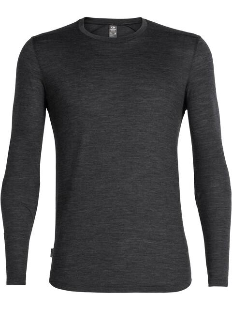 Icebreaker Sphere LS Crewe Shirt Men black heather
